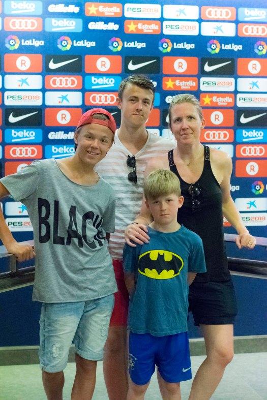 Camp Nou jag och barnen